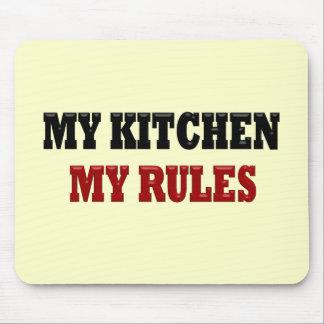 Mi cocina mis reglas alfombrilla de ratón