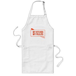 Mi cocina. Mis reglas. Diseño de la diversión para Delantal Largo