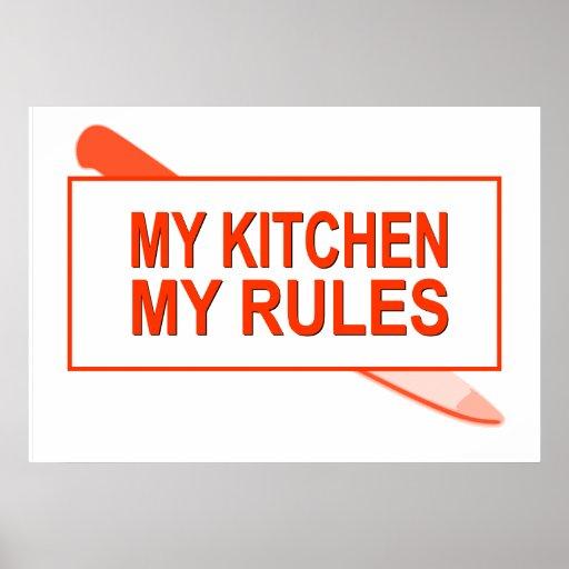Mi cocina. Mis reglas. Diseño de la diversión para Posters