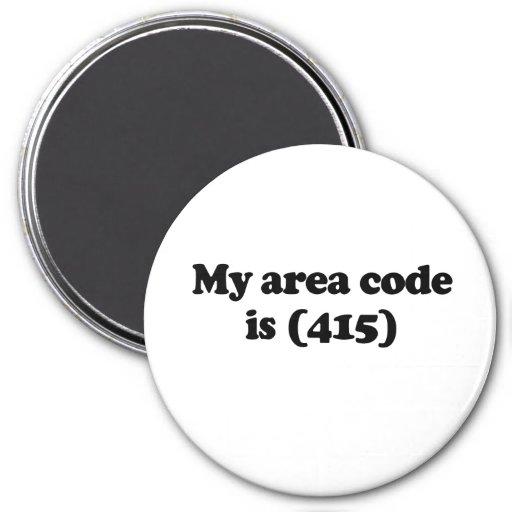 Mi código de área es 415 .png iman para frigorífico