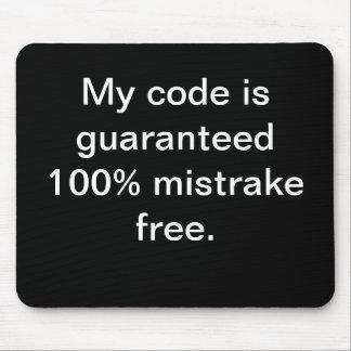 Mi código es el mistrake 100% libre - cita diverti alfombrillas de ratones