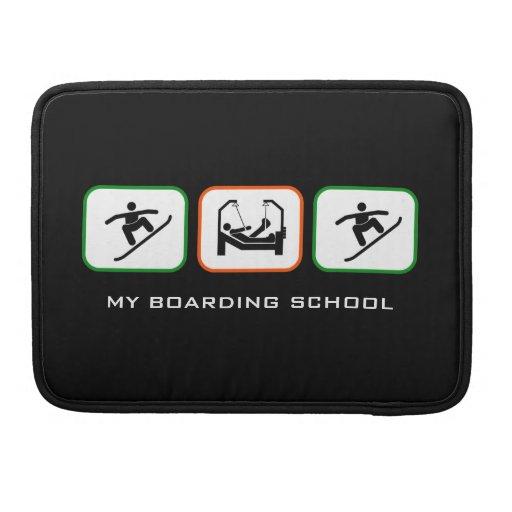 Mi colegio de internos - diseño divertido de la sn fundas para macbook pro