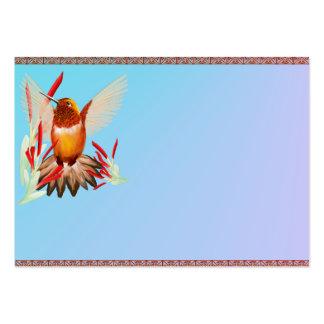 Mi colibrí soleado tarjetas de visita grandes