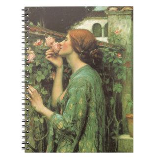 Mi color de rosa dulce, o alma del color de rosa spiral notebooks