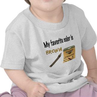 Mi color preferido es Brown Camiseta