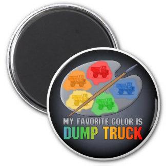 Mi color preferido es imán grande del camión volqu