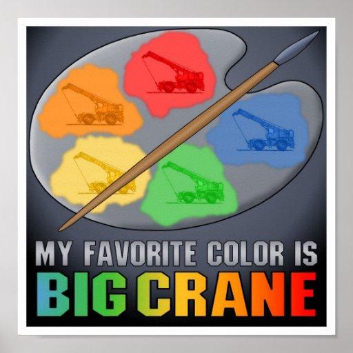 Mi color preferido es impresión grande del poster