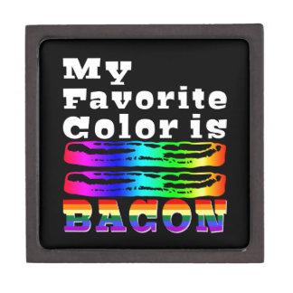 Mi color preferido es tocino caja de recuerdo de calidad