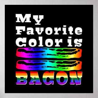 Mi color preferido es tocino póster