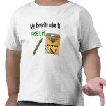 Mi color preferido es verde camiseta