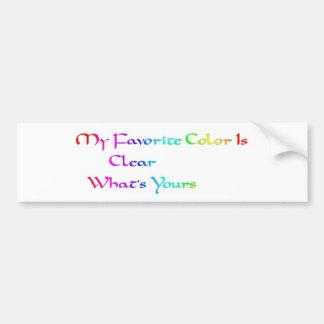 mi color preferido está claro pegatina para auto