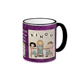 Mi compinche 2 del bingo taza de dos colores