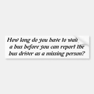 Mi conductor del autobús falta pegatina para auto