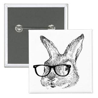 mi conejo fresco con las gafas diseñó por Kanjiz Pin Cuadrado