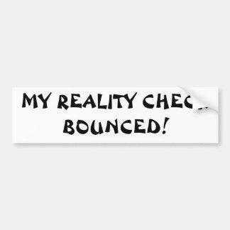 mi confrontación con la realidad despedida pegatina para auto