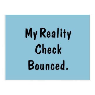 Mi confrontación con la realidad despedida tarjeta postal