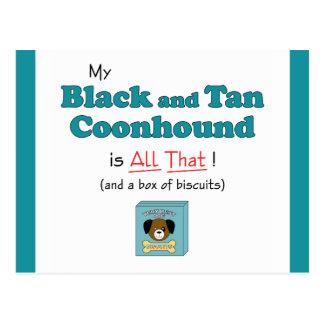 ¡Mi Coonhound del negro y del moreno es todo el Postales