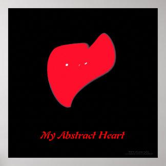 """Mi corazón abstracto "" Póster"
