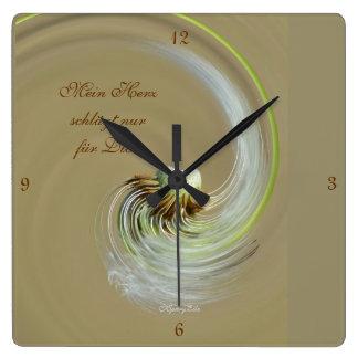 """""""mi corazón"""" by mysteryella reloj cuadrado"""