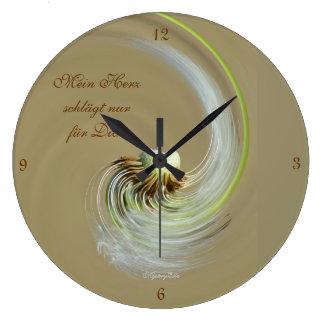 """""""mi corazón"""" by mysteryella reloj redondo grande"""