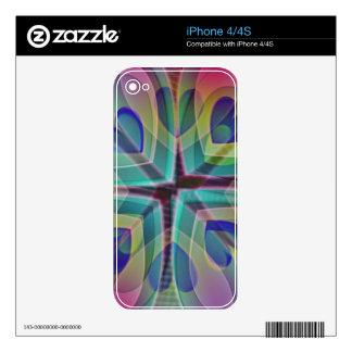 Mi corazón del pavo real calcomanías para el iPhone 4
