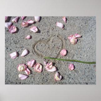 Mi corazón en la arena impresiones