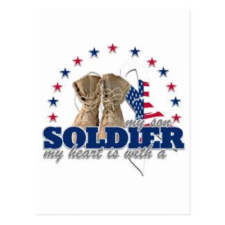 mi corazón es con un soldado mi hijo postal