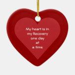 Mi corazón es en mi fecha de la sobriedad de la re adorno de navidad