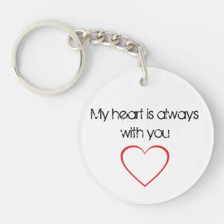 Mi corazón es siempre con usted llavero