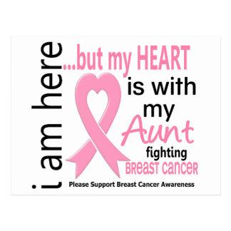 Mi corazón está con mi cáncer de la tía pecho postal