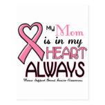 Mi corazón está con mi CÁNCER de PECHO de la mamá Postal