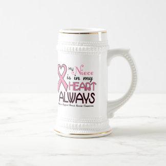 Mi corazón está con mi CÁNCER de PECHO de la sobri Tazas De Café