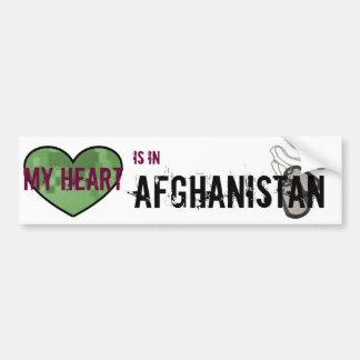 Mi corazón está en Afganistán Pegatina Para Auto