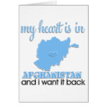 Mi corazón está en Afganistán Tarjeta