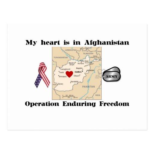Mi corazón está en Afganistán Tarjetas Postales