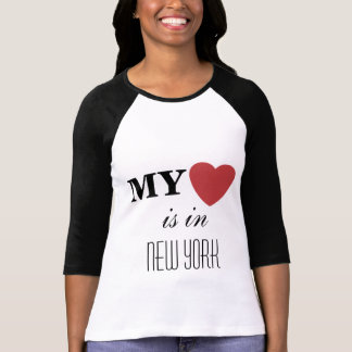 Mi corazón está en camiseta de encargo de larga di
