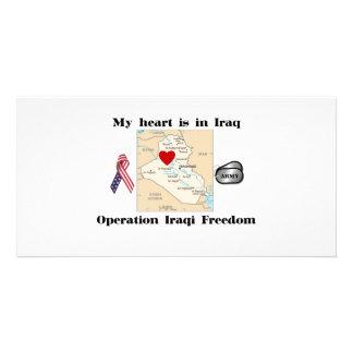 Mi corazón está en Iraq Tarjetas Fotograficas