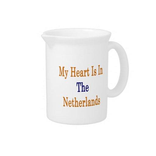 Mi corazón está en los Países Bajos Jarra Para Bebida