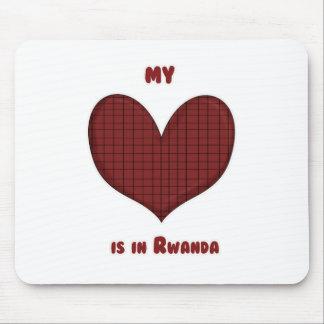 Mi corazón está en Rwanda Alfombrilla De Raton