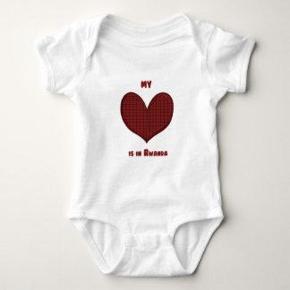 Mi corazón está en Rwanda Body Para Bebé