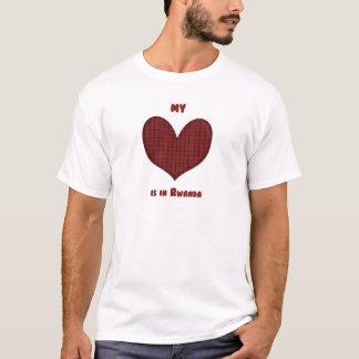 Mi corazón está en Rwanda Playera