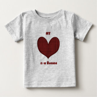 Mi corazón está en Rwanda Playera De Bebé