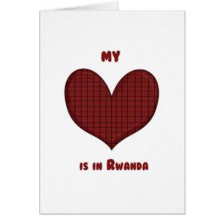 Mi corazón está en Rwanda Tarjeta De Felicitación
