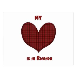 Mi corazón está en Rwanda Tarjeta Postal