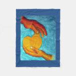 Mi corazón está en su pintura original del ~ de manta de forro polar