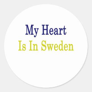 Mi corazón está en Suecia Pegatinas