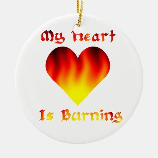 Mi corazón está quemando ornamente de reyes