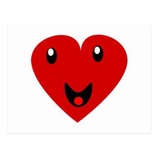 Mi corazón feliz postal