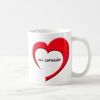 Mi Corazon II mug (red)