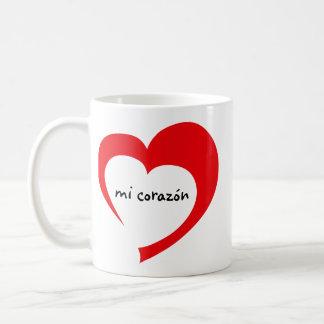 Mi Corazon II mug (red flat)